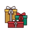 Christmas gift decorated with ribbon vector image vector image
