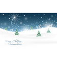 Christmas landscape with trees glitter snow and vector image vector image