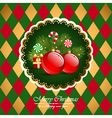 Christmas vintage background with balls vector image