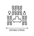 chromosome division linear icon vector image vector image