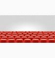 cinema or theatre seats in empty hall vector image vector image