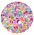 circle from musical symbols vector image vector image