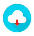 cloud upload flat circle icon vector image vector image