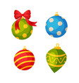 colorful bauble balls christmas and new year vector image vector image