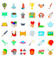 creativity icons set cartoon style vector image vector image