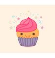 Cute Cupcake Cartoon vector image vector image
