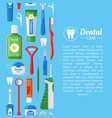 dental care web banner flat design template vector image vector image