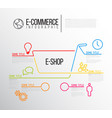 e-commerce infographic report template vector image vector image