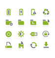 energy and storage icons natura series vector image vector image