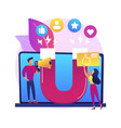 engagement marketing abstract concept vector image vector image