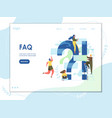 faq website landing page design template vector image vector image