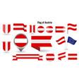 flag austria big set icons and symbols vector image vector image
