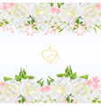 floral horizontal border seamless background vector image