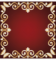 gold jewelry frame vector image vector image