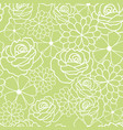 green flowers texture pattern vector image vector image