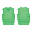 green sleeveless sweater vector image vector image
