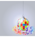 hanging mirror ball vector image