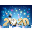 happy 2020 new year background with colorful vector image vector image