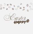 happy easter card with ornaments vector image