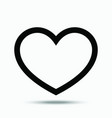 heart - sign of love isolated on vector image vector image