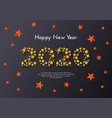 holiday gift card happy new year 2020 vector image vector image
