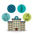 hospital building medical healthy design vector image
