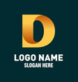 initial d logo design vector image vector image