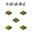 isometric way set of navigation upwards vector image