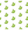 lime slices seamless pattern on white background vector image vector image