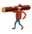 lumberjack icon cartoon style vector image