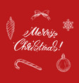 merry christmas lettering with new year elements vector image vector image
