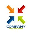 modern arrow and pharmacy logo vector image