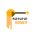 natural honey honey dipper white background vector image