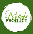 natural product vegan food sticker set vector image vector image