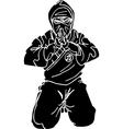 Ninja fighter - Vinyl-ready vector image vector image