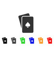 peaks playing cards icon vector image vector image