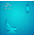ramadan kareem greeting card template islamic vector image vector image