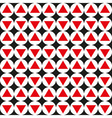 Seamless abstract geometric pattern red black vector image
