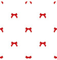 seamless pattern red bows on a white background vector image vector image