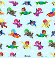 seamless pattern with professional skydivers vector image