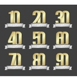 set of anniversary golden signs vector image vector image