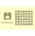 Set of construction simple icons vector image vector image
