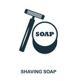 shaving soap icon flat style icon design ui vector image