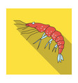 shrimp icon in flat style isolated on white vector image vector image