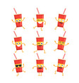 soft drink - set of mascot vector image vector image