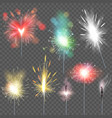 sparkler sparkling celebration of christmas vector image
