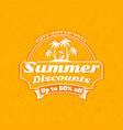 summer sale banner typographic retro style summer vector image