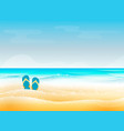 summer vacation seashore resort travel vector image