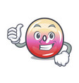 thumbs up jelly ring candy character cartoon vector image vector image