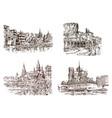 vintage landscape historical architecture vector image